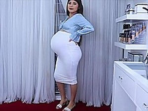 Huge Pregnant Mom Speaks In Sexy Language And Wears Sexy Clothes