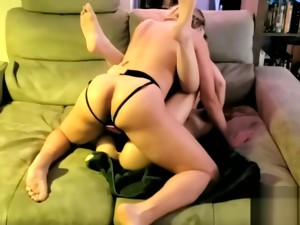 Brutal Strapon Assfuck On Threesome With My Man And My Girl