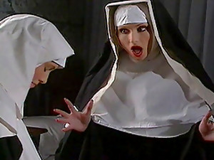 Horny Nuns Have A Lesbian Scebe With Sex Toys