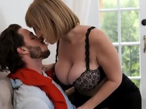 Sara039s Big Tits Attract Her Son039s Best Friend