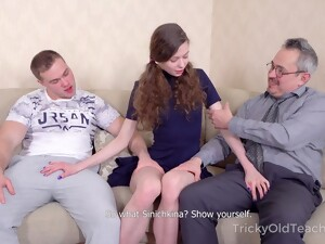 Pretty Teen Sofi Smile Is Fucked By Boyfriend And Kinky Old Teacher