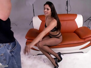Curvaceous Latina Pornstar With Small Tits Delivers A Blowjob Then Gets Slammed Hardcore