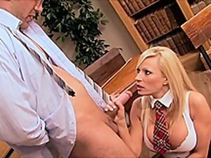 Busty Blonde Schoolgirl Seduced Her Favorite Professor And Asked Him To Fuck Her Brains Out