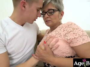 Granny Jessye Made Young Oliver Satisfied With Her Sex Tricks