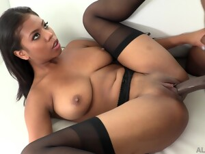 Cute Black Babe Satisfying Sex With Her Black Lover And She Loves Cum