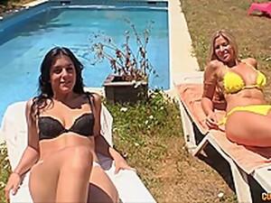 Foursome With Baddies Carol Ferrer, Laurita Peralta