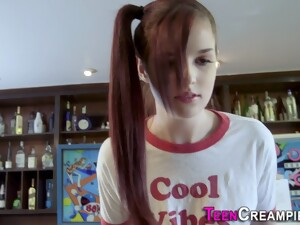 Pigtailed Teen Creampied