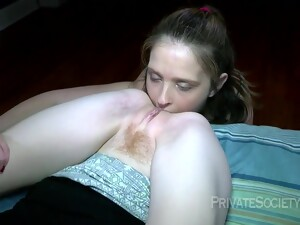 The Odd Couple In Action - Lesbian Fetish Sex With Ass Licking And Fisting