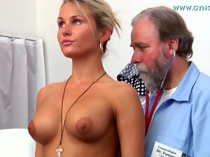 Sexy Blonde Laura Showing Off Her Goodies To Doctor