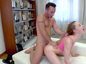 Soaked In Sperm After The Boyfriend Ass Fucks Her The Hard Way