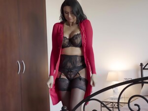 Ania Kinski Wears Sexy Black Lingerie For Fucking Without Mercy