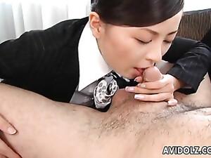 Asian Stewardess Is A Hot Cocksucker