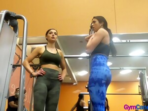 Hot Girls In Leggings At The Gym