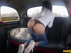 Latina Teen In Tight Jeans Hooks Up With The Fake Taxi Driver
