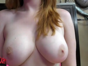 Redhead Hottie PAWG With All Natural Boobies Teasing Solo