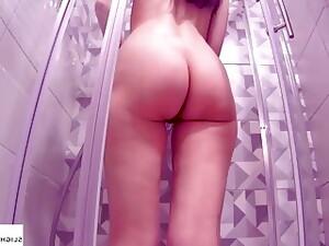 Hidden Cam In My Shower. Shaving Pussy.