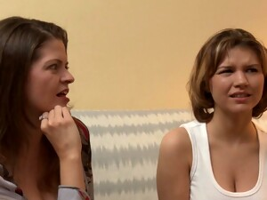 Brunette Babe Watches Two Hot Dykes Fucking Like Mad