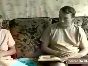 Redhead Wife Stops His Studies For Sex And Cum