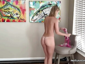 Vicky Stark, Sheer Micro Bikini Try On Video