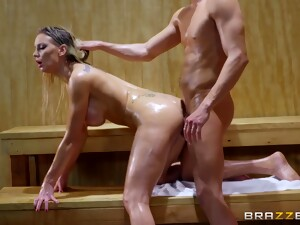 Sauna Anal With Oiled Up Blonde: Ass In Heat 2 Kenzie Taylor, Xander Corvus