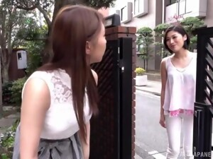 Horny Sunohara Miki Enjoys A Lesbian Touch On Her Naked Tits