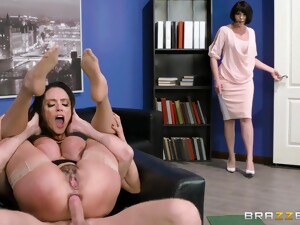 Thrilling MILF Foot Fetish And Sodomy At The Office