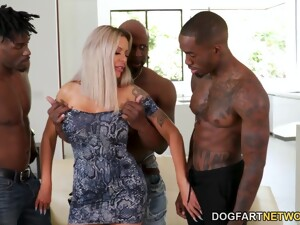 Brutal Double BBC Penetration And Hardcore Mouthfuck For Nina Elle