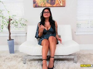 Selena Kyle Flashes Her Hairy Pussy Before Getting Pounded