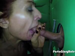 POV Gloryhole Blowjob - Amateur Mom Slut Raquel - Cumshot