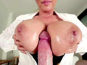 Asian Titty Queen In Glasses Gets Tit Fucked And Cum On Her Glasses