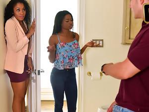 Mya Mays And Yasmine De Leon In Mothers Interracial Interaction - BadMilfs