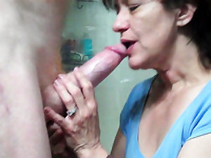 My Buddy Gets A Kinky Blowjob From A Slutty Wrinkled Brunette Hooker