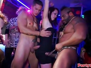 European party sluts get naugthy in club