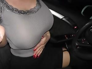 Patty Michova in the Car