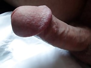 My pierced circumcised penis cumming in hd