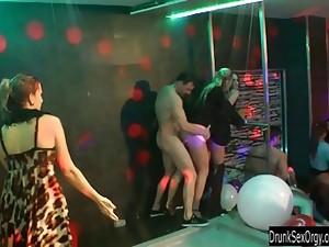 Bisexual sluts fucking in club