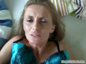 Nasty Blonde Whore Goes Crazy Getting