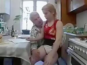 Grandpa Loves Fucking Her Tight Hairy College Girl Cunt !