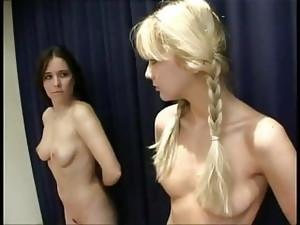 Blonde V Brunette Naked Scrap