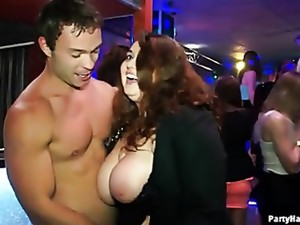 Sluts In Skirts And Dresses Dance At A Party
