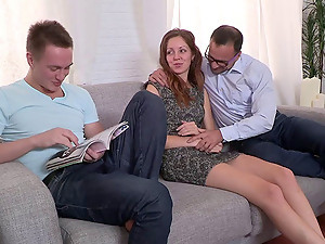 A cuckold video where a husband watches his wife get fucked
