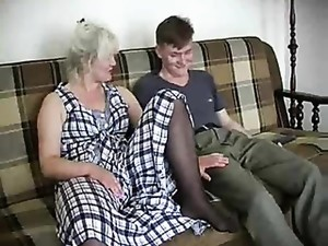 Granny And The Young Man Going At It