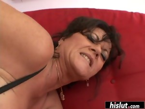 Horny Cougar Needs More Than One Tool